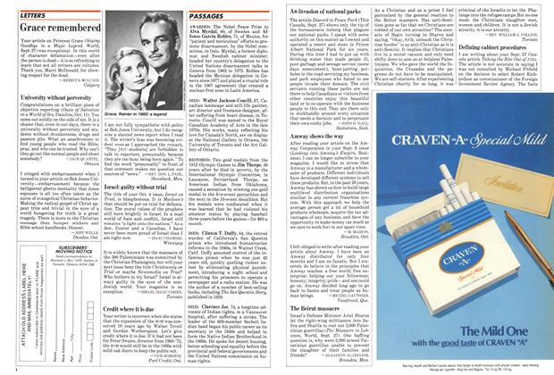 Article Preview: Grace remembered, October 1982 | Maclean's