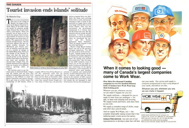 Article Preview: Tourist invasion ends islands' solitude, October 1982 | Maclean's