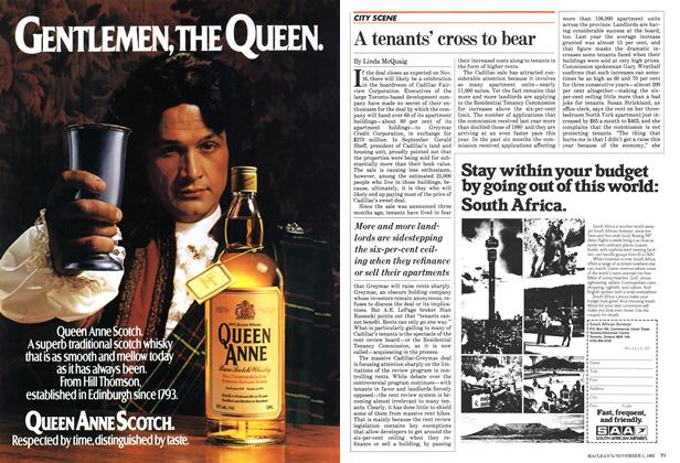 Article Preview: A tenants' cross to bear, November 1982 | Maclean's