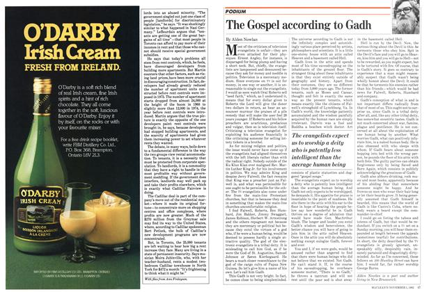 Article Preview: The Gospel according to Gadh, November 1982 | Maclean's