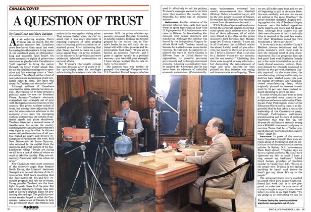 Article Preview: A QUESTION OF TRUST, November 1982 | Maclean's