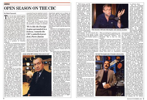 Article Preview: OPEN SEASON ON THE CBC, November 1982 | Maclean's