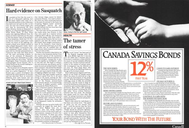 Article Preview: The tamer of stress, November 1982 | Maclean's