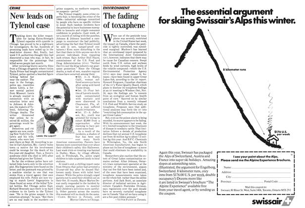 Article Preview: The fading of toxaphene, November 1982 | Maclean's