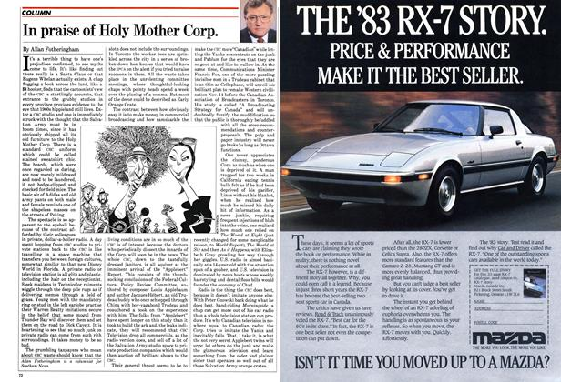 Article Preview: In praise of Holy Mother Corp., November 1982 | Maclean's