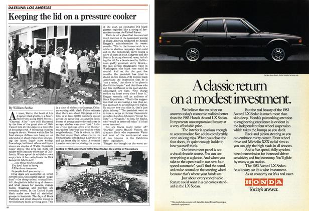Article Preview: Keeping the lid on a pressure cooker, November 1982 | Maclean's