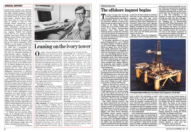 Article Preview: The offshore inquest begins, November 1982 | Maclean's