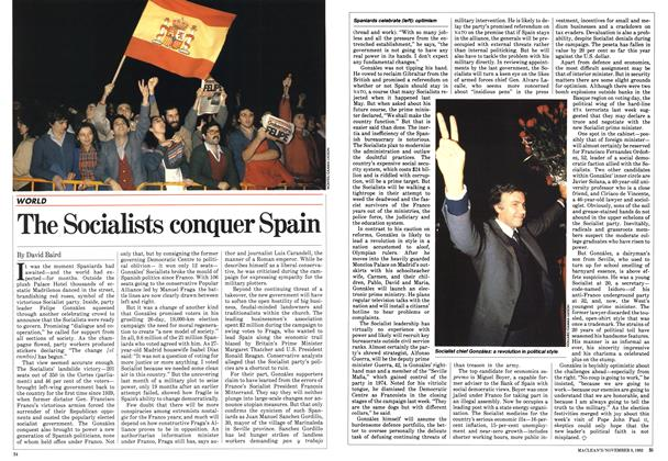Article Preview: The Socialists conquer Spain, November 1982 | Maclean's