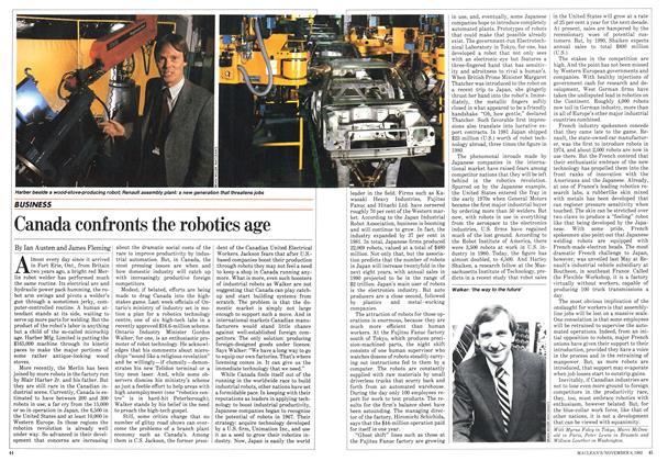 Article Preview: Canada confronts the robotics age, November 1982 | Maclean's