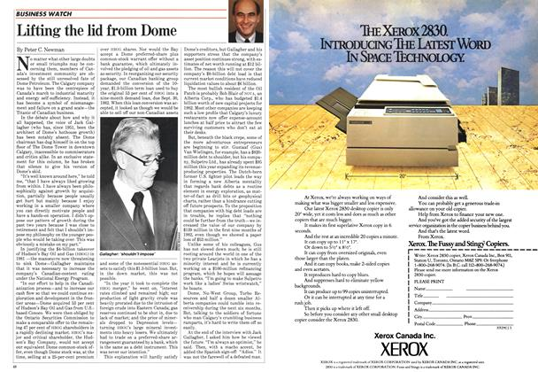 Article Preview: Lifting the lid from Dome, November 1982 | Maclean's