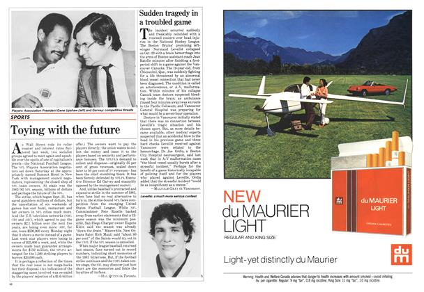Article Preview: Toying with the future, November 1982 | Maclean's