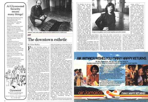 Article Preview: The downtown esthetic, November 1982 | Maclean's