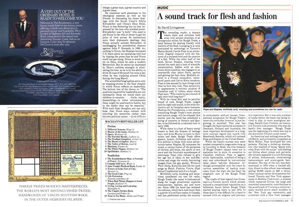 Article Preview: A sound track for flesh and fashion, November 1982 | Maclean's