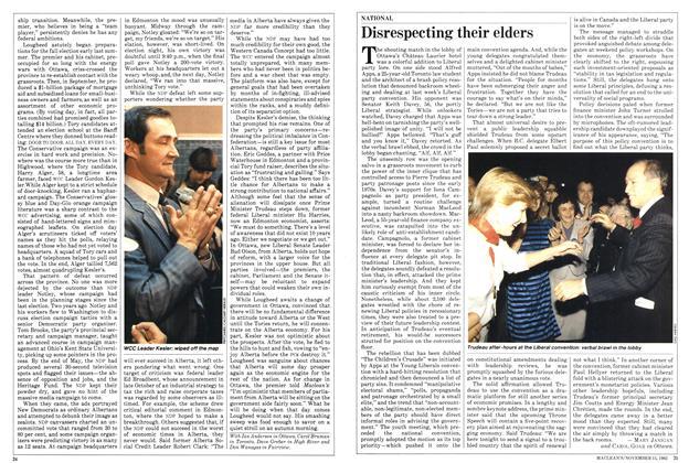 Article Preview: Disrespecting their elders, November 1982 | Maclean's