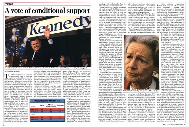 Article Preview: A vote of conditional support, November 1982 | Maclean's