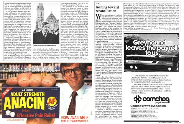Article Preview: Inching toward reconciliation, November 1982 | Maclean's