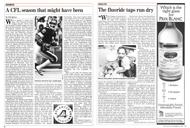 Article Preview: A CFL season that might have been, November 1982 | Maclean's