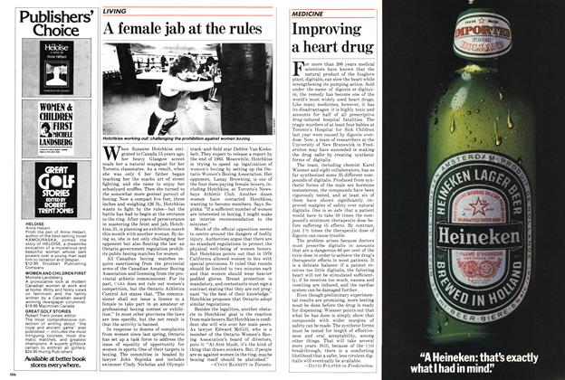 Article Preview: A female jab at the rules, November 1982 | Maclean's