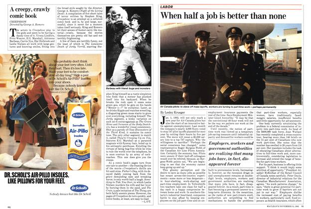 Article Preview: When half a job is better than none, November 1982 | Maclean's