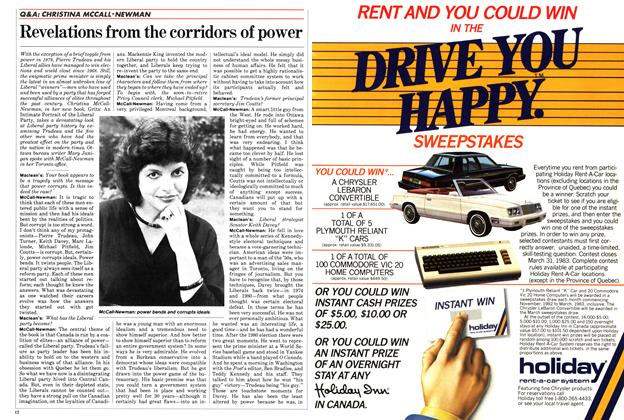 Article Preview: Revelations from the corridors of power, November 1982 | Maclean's