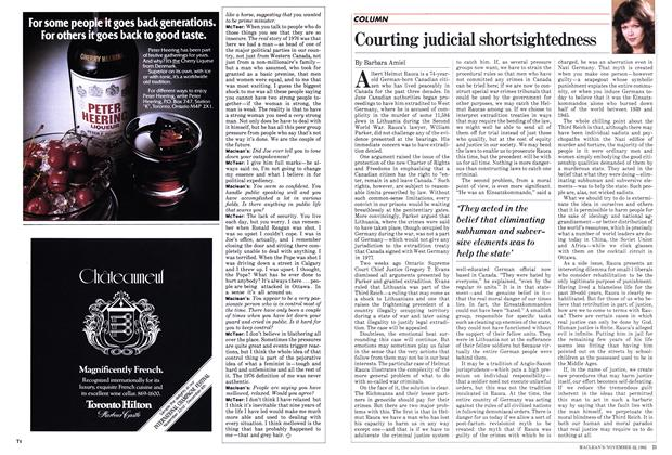 Article Preview: Courting judicial shortsightedness, November 1982 | Maclean's