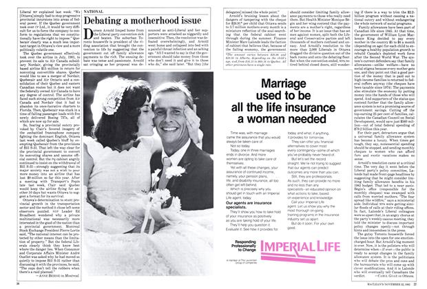 Article Preview: Debating a motherhood issue, November 1982 | Maclean's