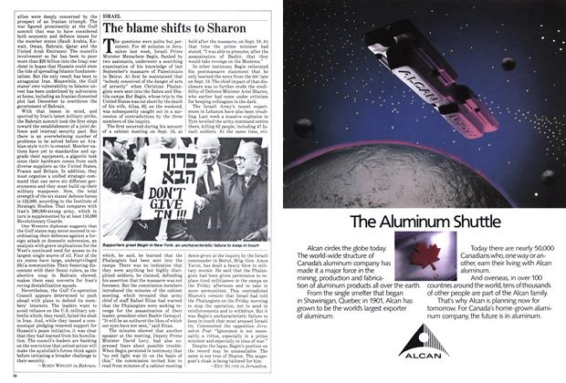 Article Preview: The blame shifts to Sharon, November 1982 | Maclean's