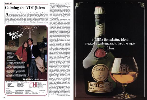Article Preview: Calming the VDT jitters, November 1982 | Maclean's