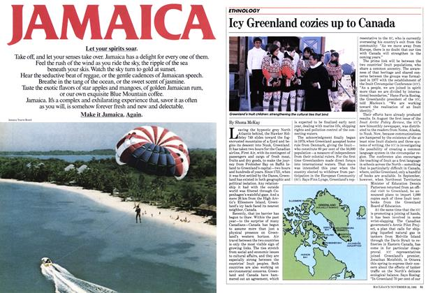 Article Preview: Icy Greenland cozies up to Canada, November 1982 | Maclean's