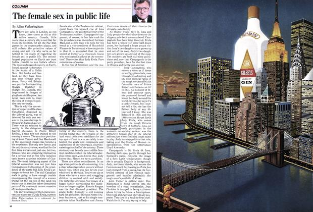 Article Preview: The female sex in public life, November 1982 | Maclean's