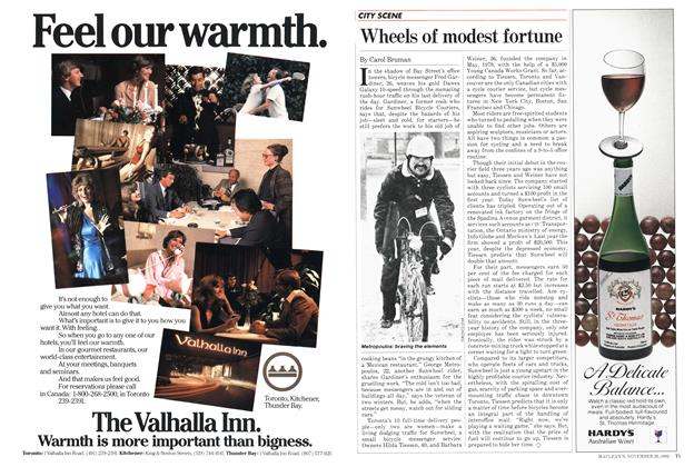 Article Preview: Wheels of modest fortune, November 1982 | Maclean's