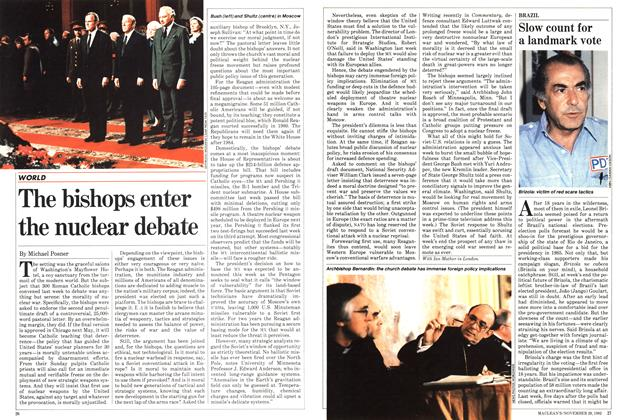 Article Preview: The bishops enter the nuclear debate, November 1982   Maclean's