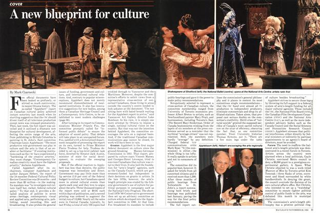 Article Preview: A new blueprint for culture, November 1982 | Maclean's