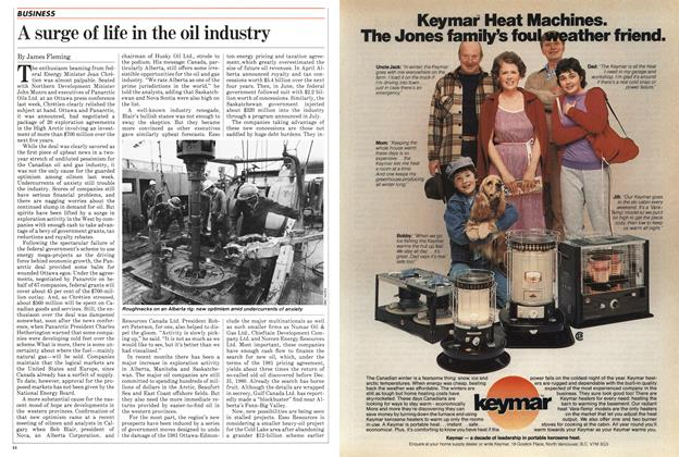 Article Preview: A surge of life in the oil industry, November 1982 | Maclean's