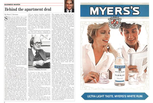 Article Preview: Behind the apartment deal, November 1982 | Maclean's