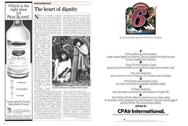 Article Preview: The heart of dignity, November 1982 | Maclean's