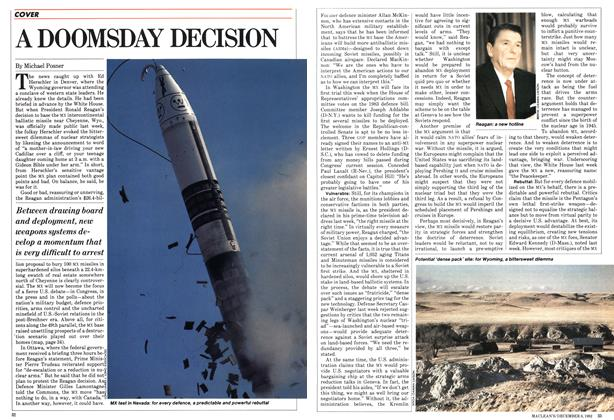 Article Preview: A DOOMSDAY DECISION, December 1982 | Maclean's