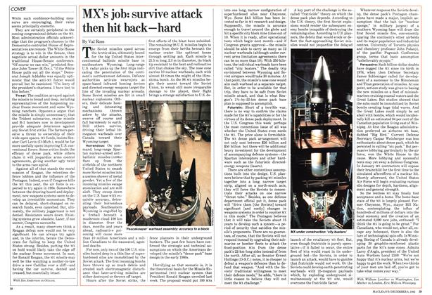 Article Preview: MX's job: survive attack then hit back—hard, December 1982 | Maclean's