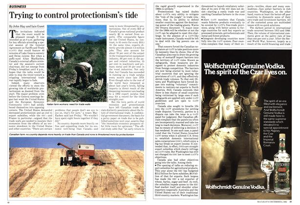 Article Preview: Trying to control protectionism's tide, December 1982 | Maclean's