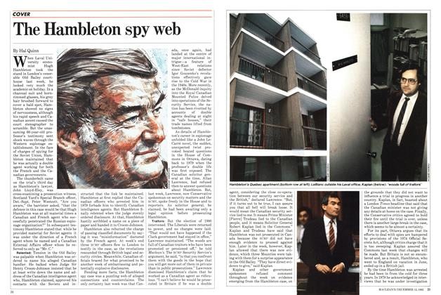 Article Preview: The Hambleton spy web, December 1982 | Maclean's