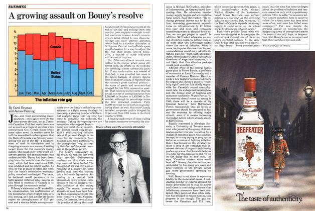 Article Preview: A growing assault on Bouey's resolve, December 1982 | Maclean's