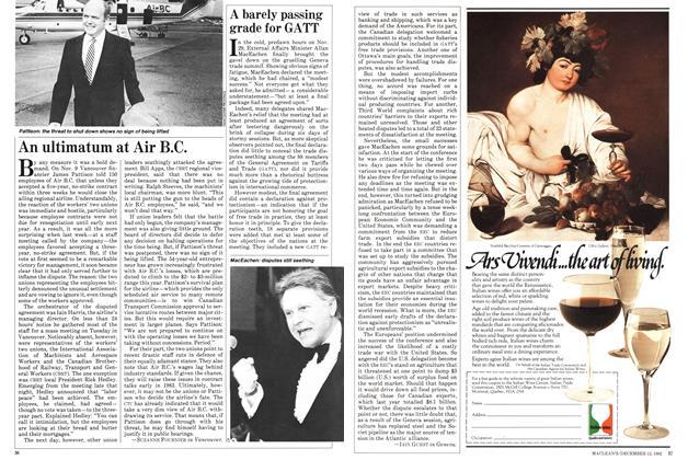 Article Preview: An ultimatum at Air B.C., December 1982 | Maclean's