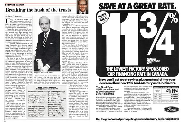 Article Preview: Breaking the hush of the trusts, December 1982 | Maclean's