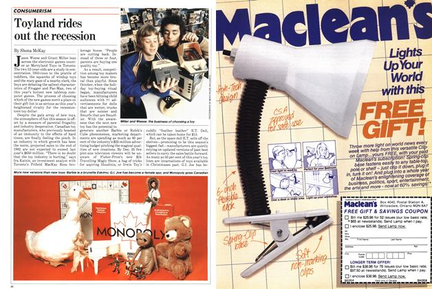 Article Preview: Toyland rides out the recession, December 1982 | Maclean's