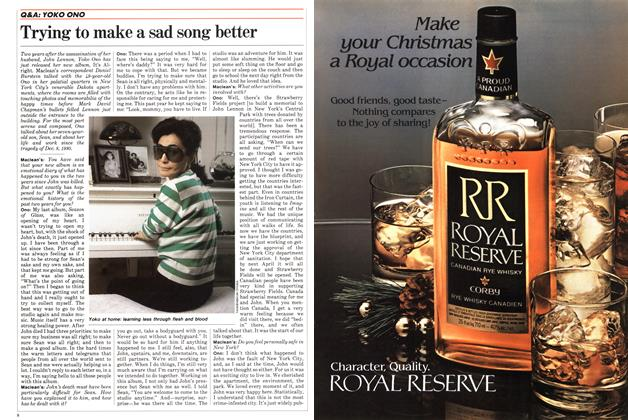 Article Preview: Trying to make a sad song better, December 1982 | Maclean's