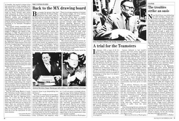 Article Preview: A trial for the Teamsters, December 1982 | Maclean's