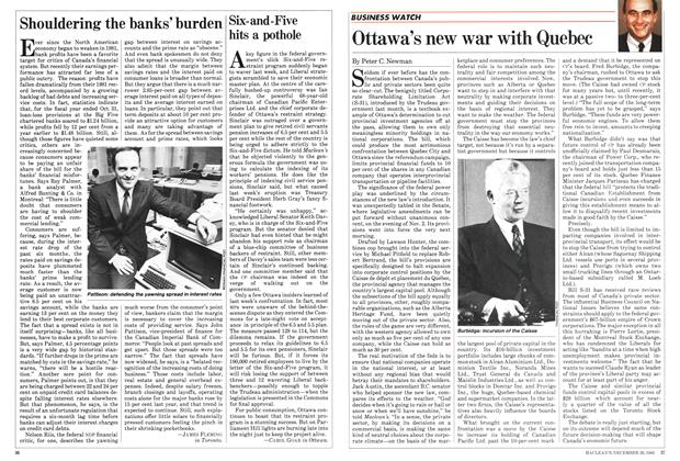 Article Preview: Six-and-Five hits a pothole, December 1982 | Maclean's