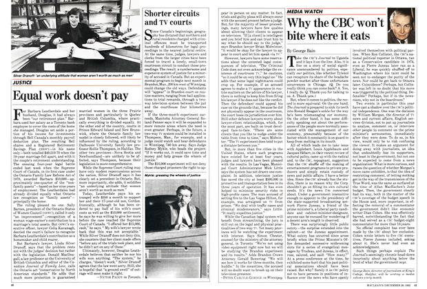 Article Preview: Why the CBC won't bite where it eats, December 1982 | Maclean's