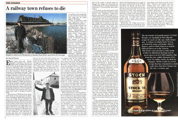 Article Preview: A railway town refuses to die, December 1982 | Maclean's