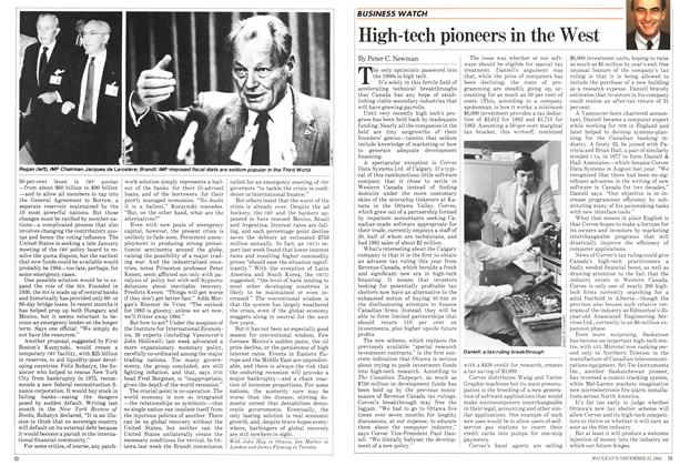 Article Preview: High-tech pioneers in the West, DECEMBER 27,1982 1982 | Maclean's